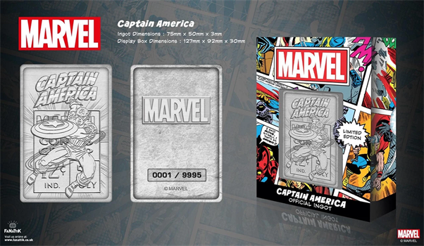 Limited Edition Marvel Ingot - Captain America