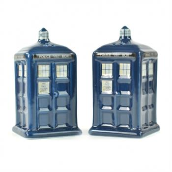 Salt & Pepper Shakers Ceramic - Doctor Who (Tardis)