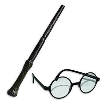 Harry Potter Blister Kit Wand & Glasses