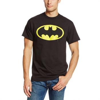 Batman Yellow Logo Large Tee