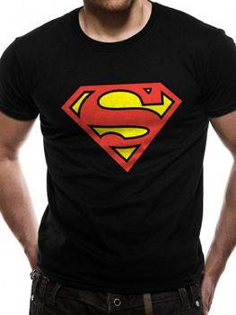 SUPERMAN LOGO - Fitted T-Shirt Black Large