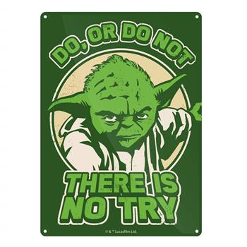 Tin Sign Small Star Wars Yoda Try