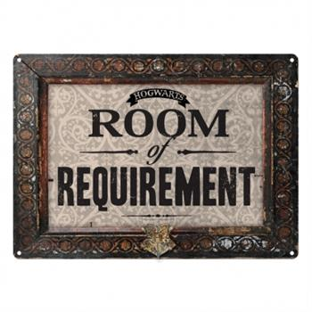 Small Tin Sign - Harry Potter Room Of Requirement (All Grey)
