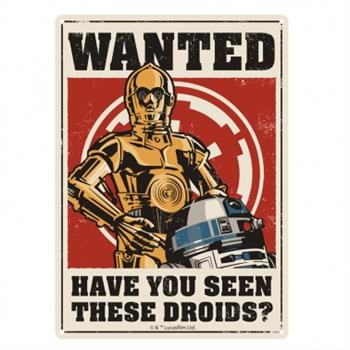 Tin Sign Small - Star Wars (Droids)