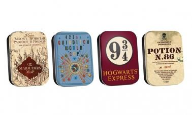 Timeless Tins Set Of 4 - Harry Potter (Map)