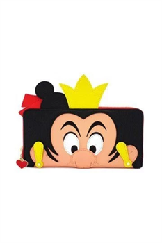 Loungefly: Disney Queen Of Hearts Zip Faux Leather