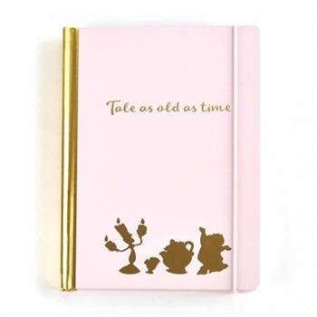 A5 Notebook - Beauty And The Beast (Floral Pink)