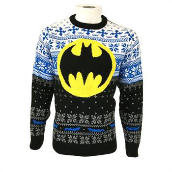 DC Batman Logo (Yellow Circle) Xmas Jumper Medium