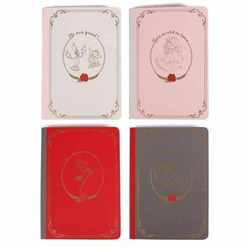 Beauty and the Beast - Set of 4 A6 Notebooks