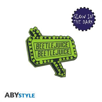Beeltejuice Sign Pin Badge