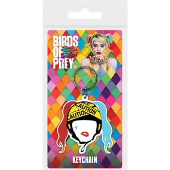 Birds Of Prey (Harley Quinn Caution) Rubber Keycha
