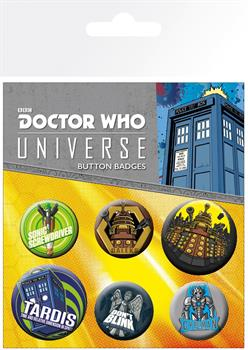 Dr Who Alien Adventures Badge Pack