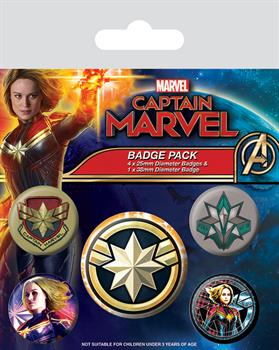 Captain Marvel Badge Pack