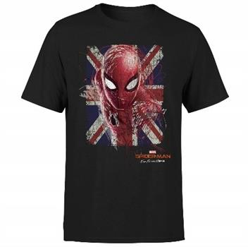 Spider Man British Flag Men's T-Shirt - Black - Medium