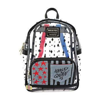Loungefly: Birds o/Prey Harley Clear Mini Backpack