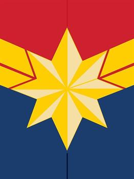 Captain Marvel (Emblem) Canvas