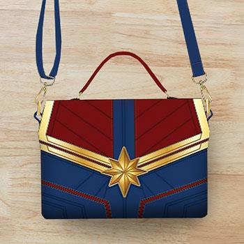 Loungefly: Captain Marvel Faux Leather Cross Body