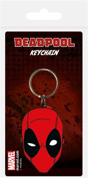 Deadpool Face Rubber Keychain