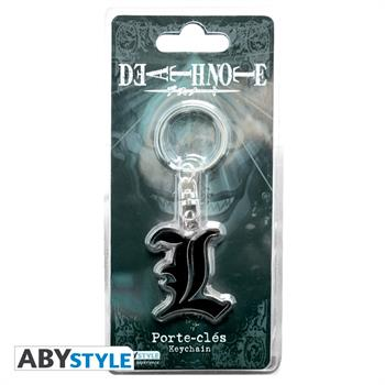 Death Note Metal L Keyring