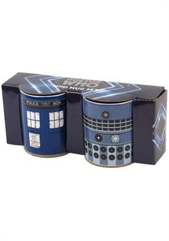 Mug Mini Set Of 2 Doctor Who - Tardis & Dalek