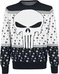 Punisher Christmas Jumper XL