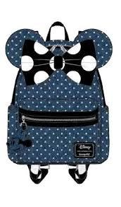 Loungefly: Minnie Mouse Denim Poka Dot Backpack