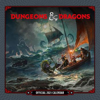 Dungeons and Dragons 2021 Square Wall Calendar