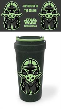 The Mandalorian The Cutest In Galaxy Travel Mug