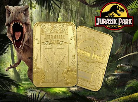 Jurassic Park Metal Entrance Gates 24K Gold Ticket