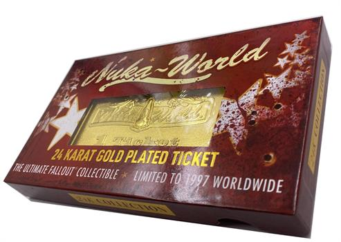 Fallout Nuka-Cade 24k Gold-Plated Ticket