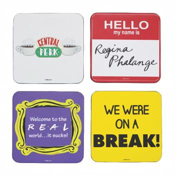 Coaster Set Of 4 -  Friends (Quotes)