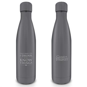 GOT - I Drink & I Know Things Metal Water Bottle