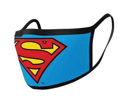 Superman (Logo) Face Mask - 2 Pack