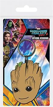 Guardians Of The Galaxy Groot Face Keychain
