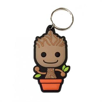 Baby Groot Rubber Keychain