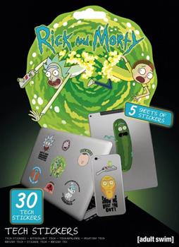 Rick and Morty Tech Stickers