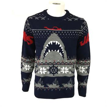 Jaws - Shark Christmas Jumper - L