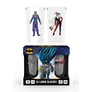 Joker And Harley Quinn Glass Set