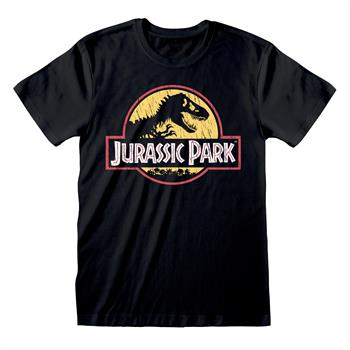 Jurassic Park - Original Logo Distressed -Tee- XL