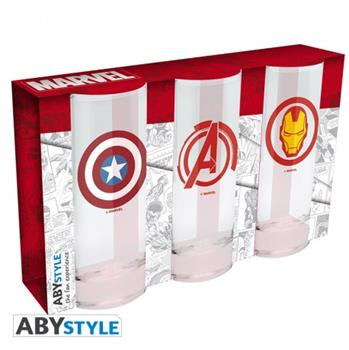 Avengers Captain America & Iron Man x 3 Glasses