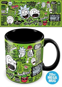 Rick & Morty (Quotes) Mega Mug