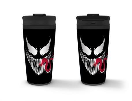 Venom Face Metal Travel Mug