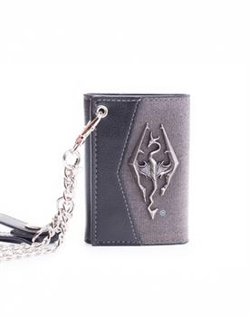 Skyrim Chain Wallet With Metal Dragon Badge