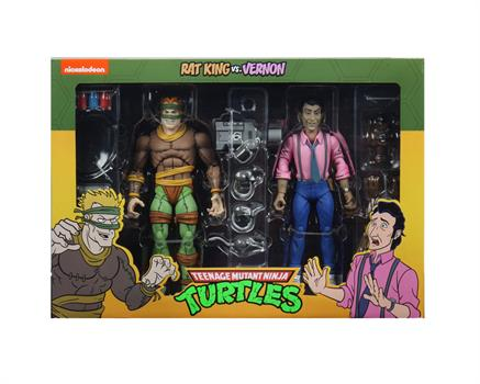 "7"" TMNT Cartoon King Rat & Vernon 2-Pack Figures"