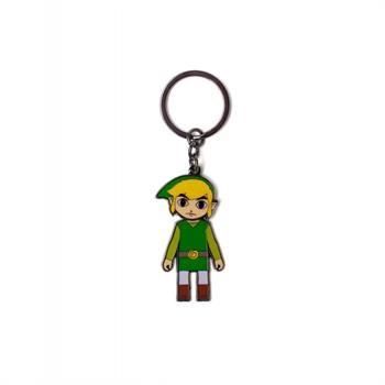 Zelda Link With Movable Head Metal Keychain