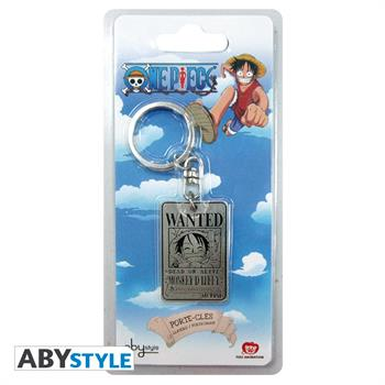One Piece Metal Keychain Wanted Luffy
