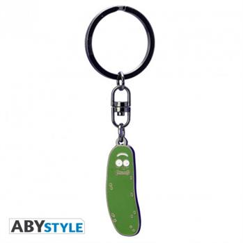 Pickle Rick Metal Keychain