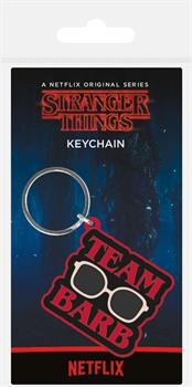 Stranger Things Team Barb Key Ring