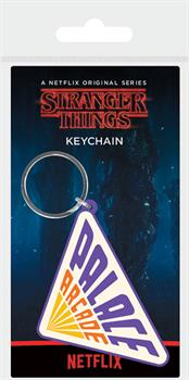 Stranger Things Palace Arcade Rubber Keychain