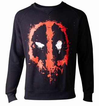 Deadpool - Dripping Face Men's Sweater - Medium